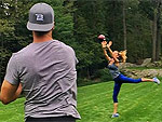'I Will Keep Him Ready': Gisele Bündchen and Tom Brady Play Catch in Preparation for His NFL Return