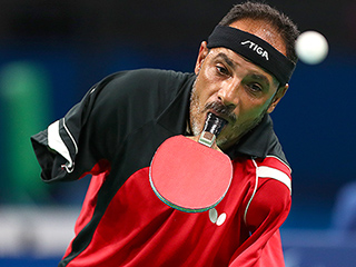 Man with No Arms Incredibly Competes in Table Tennis at Paralympic Games