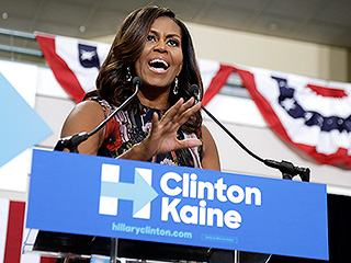 Michelle Obama Campaigns for Hillary Clinton, Slams Trump for 'Going Low' with His Birther Crusade
