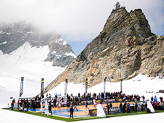 Tony Parker Hosts Basketball Game on Top of Tallest Glacier in Switzerland