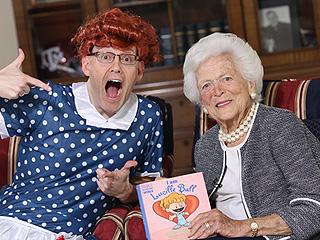 WATCH: Former First Lady Barbara Bush (with Author Brad Meltzer in Drag) Makes Story Time for the Kiddies Pretty Insane