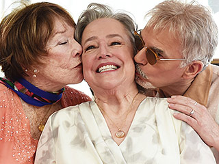 Kathy Bates Kissed by Shirley MacLaine and Billy Bob Thornton as She Gets a Star on the Hollywood Walk of Fame