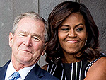 'All Of Us Are America': Michelle Obama Embraces George W. Bush at Opening of First National Museum Devoted to African-American History