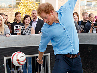 Bend It Like Harry! The Royal Shows Off Serious Soccer Skills at Charity Event