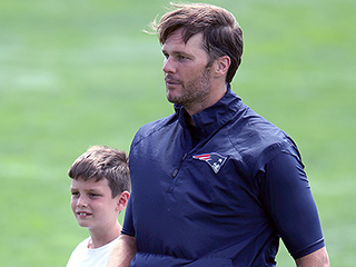Hut! Watch Tom Brady Play Catch with Son Jack During DeflateGate Suspension