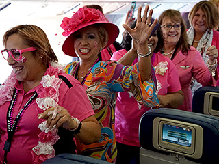 Delta Takes to the Skies in Pink Boeing for Annual Breast Cancer Survivor Flight for Employees: 'It Was Very Emotional'