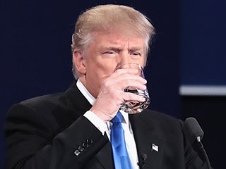 Debate Karma: Donald Trump Mocked on Twitter for Excessive Water Drinking