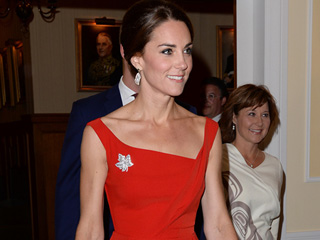 See All the Up-Close Photos of Princess Kate's Lady in Red Moment in Canada
