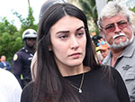 José Fernández's Pregnant Girlfriend Maria Arias Makes First Public Appearance Since His Death at Memorial Service