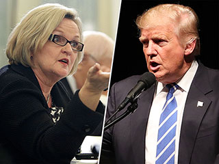 Sen. Claire McCaskill Suggests Donald Trump Weigh Himself in Public For His Body Shaming Comments