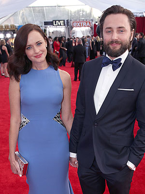 SAG Awards 2016 Vincent Kartheiser and Alexis Bledel