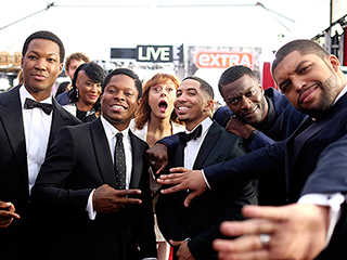 Straight Outta the SAG Awards! Compton Stars Get Photobombed by Susan Sarandon
