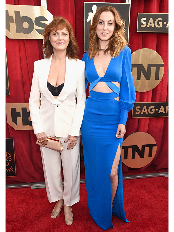 Susan Sarandon Eva Amuri SAG Awards 2016