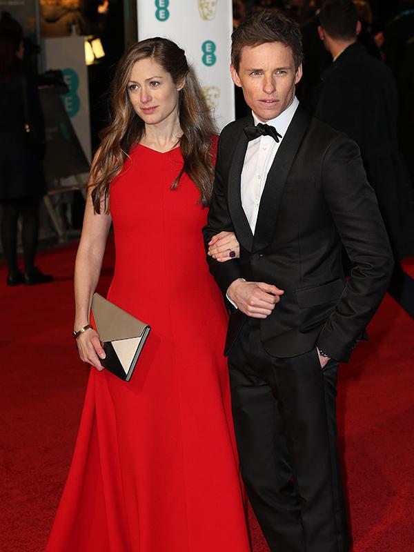 Eddie Redmayne and wife Hannah at the BAFTA Awards 2016