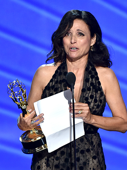 Julia Louis-Dreyfus Reveals Her Father Died Two Days Ago in Tearful Emmys Acceptance Speech| Emmy Awards, Primetime Emmy Awards 2016, People Picks, TV News, Julia Louis-Dreyfus