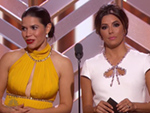 FROM EW: Eva Longoria and America Ferrera Reveal They Wrote that Golden Globes Bit