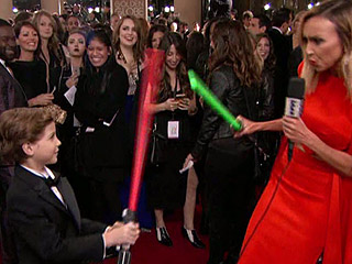 Room's Adorable Jacob Tremblay Says He Saw His 'Favorite' Star Wars Actor at the Golden Globes, Oscar Isaac