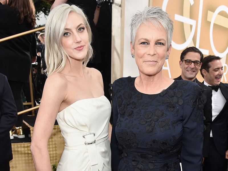 Jamie Lee Curtis Brings Daughter Annie as Red Carpet Date (and Their Hair Matches, Too!)| Golden Globe Awards 2016, Golden Globes, Scream Queens, TV News, Christopher Guest, Jamie Lee Curtis, Janet Leigh