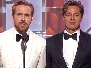 The 8 Most Important Faces Ryan Gosling and Brad Pitt Made Onstage at the Globes