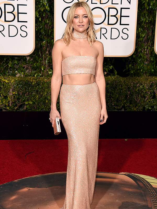 How Kate Hudson Got Her Amazing Abs Ready for Her Stunning (Crop-Top!) Golden Globes Dress| Diet & Fitness, Bodywatch, Kate Hudson
