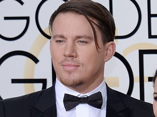 Channing Tatum's Forelock Runs Free at the Golden Globes (and the Internet Goes Crazy)