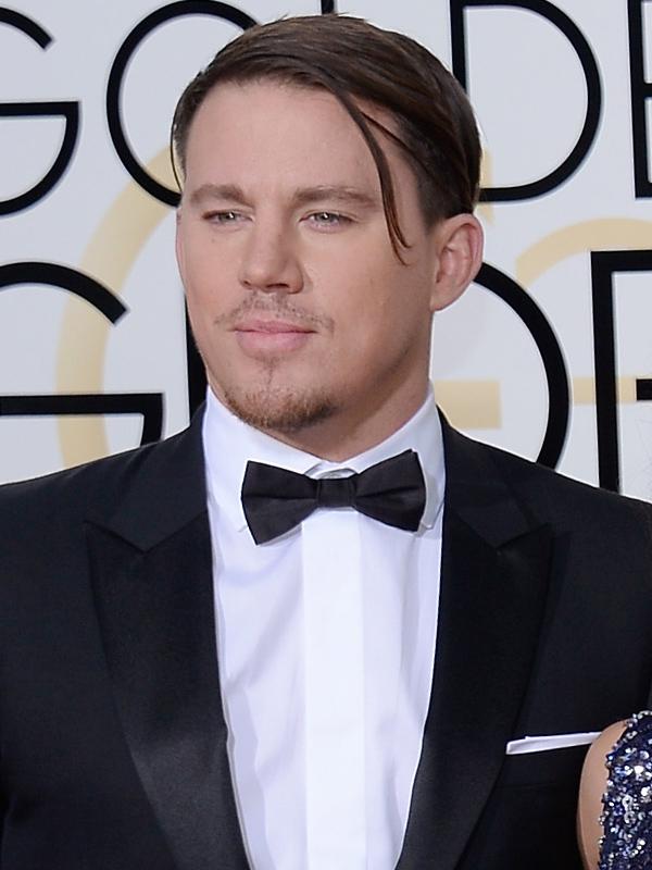 Channing Tatum hair Golden Globes 2016
