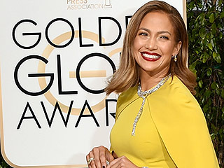 Jennifer Lopez Goes Very Un-JLo and Covers Up Her Cleavage at the Golden Globes