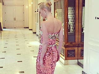 Twirl Time! See Kate Bosworth's Glittering Golden Globes Gown from Every Angle