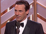 Jon Hamm's Name Is Misspelled on His First Golden Globe: 'Guys, There's No H'