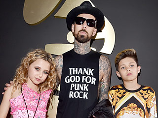 Rockin' It! Travis Barker Hits the Red Carpet with His Mini Musicians – Son Landon and Daughter Alabama