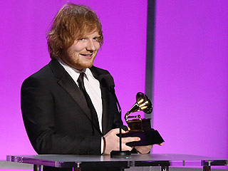 Ed Sheeran Wins First-Ever Grammy, Picks Up Best Pop Solo Performance Award for 'Thinking Out Loud'