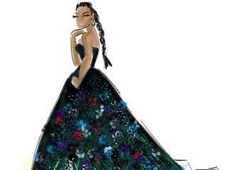 Illustrations of All Your Favorite Met Gala Manus x Machina Looks