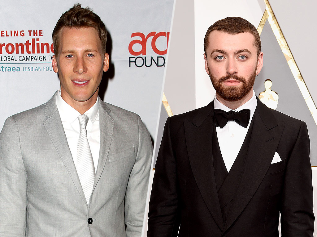 Dustin Lance Black Tells Sam Smith to 'Stop Texting My Fiancé' After Suggesting He's the First Openly Gay Oscar Winner| Academy Awards, Oscars 2016, Dustin Lance Black, Sam Smith