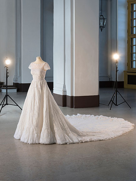 See 4 stunning royal wedding dresses on display for Swedish wedding dress designer