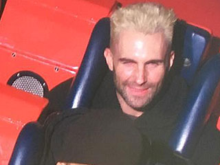 Adam Levine Bleaches His Hair, Gets Tattooed and Rides a Roller Coaster to Celebrate