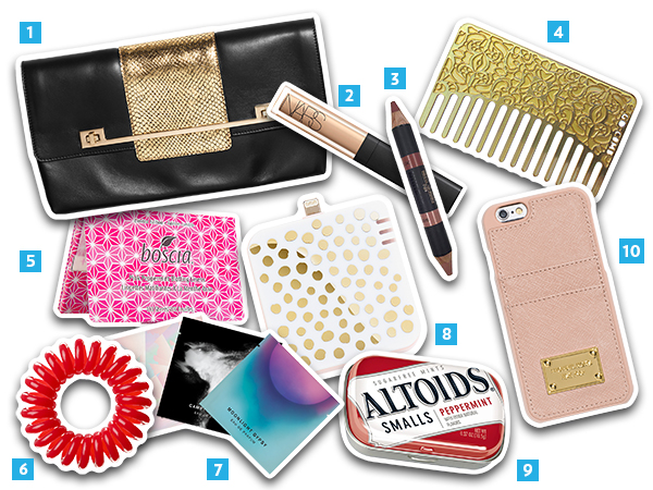 Clutch essentials collage