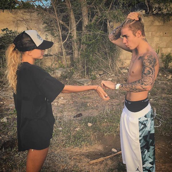 Justin Bieber manbun