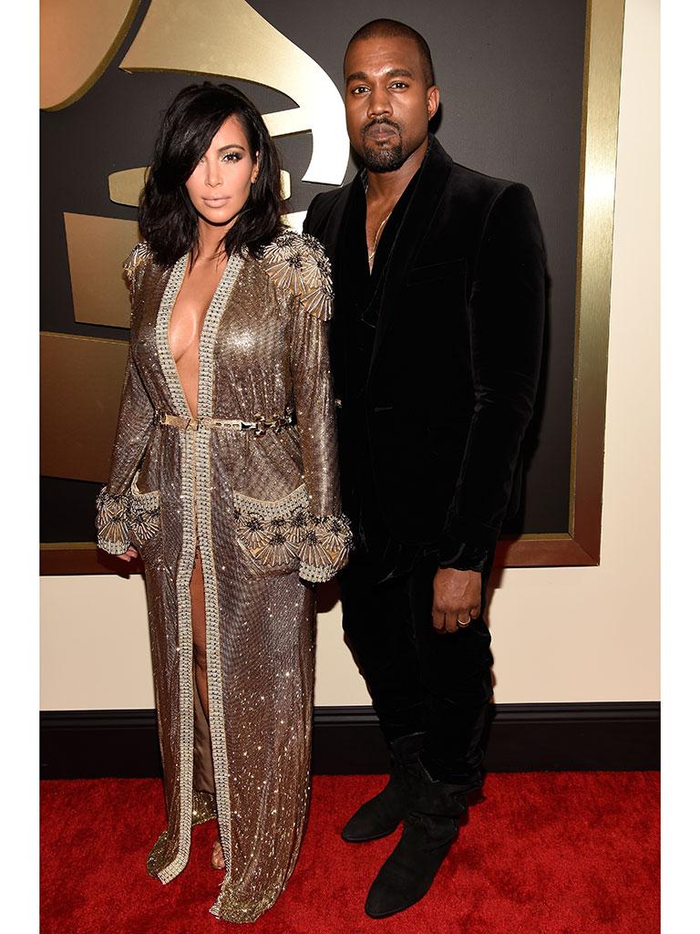 Kanye West and Kim Kardashian Grammys