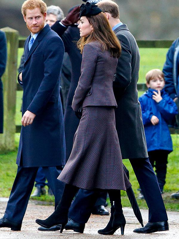 Kate Middleton tweed suit 2015