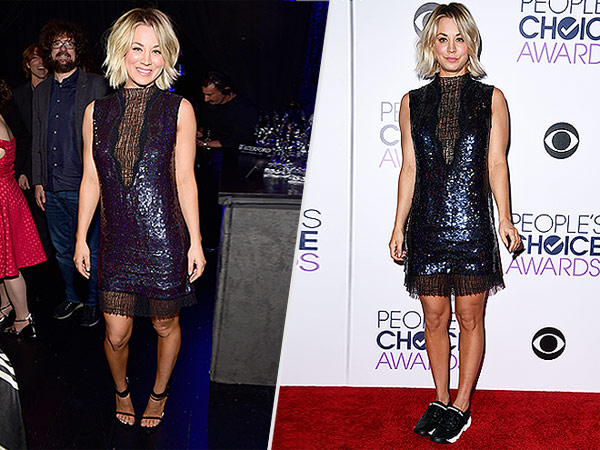 Kaley Cuoco People's Choice Awards 2016 Dior Sneakers
