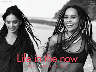 Zoë Kravitz and Lisa Bonet Look Like Sisters in Their New Calvin Klein Campaign