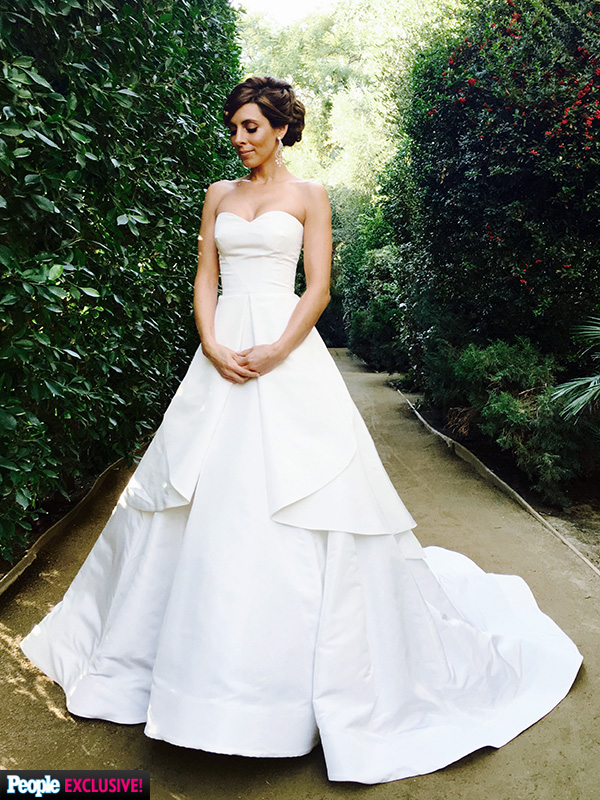 Jamie-Lynn Sigler wedding dress