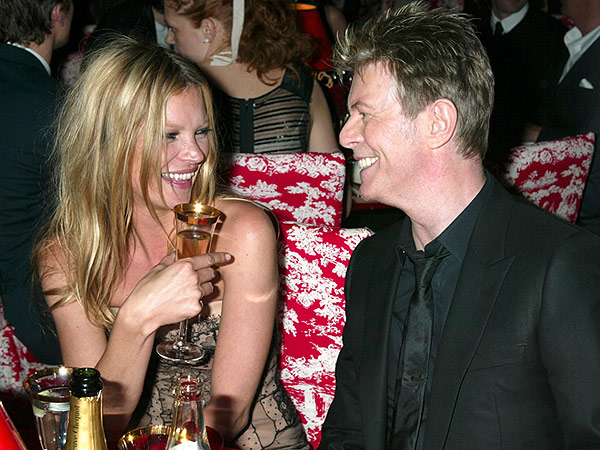 Kate Moss and David Bowie