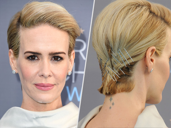 Sarah Paulson red carpet hair