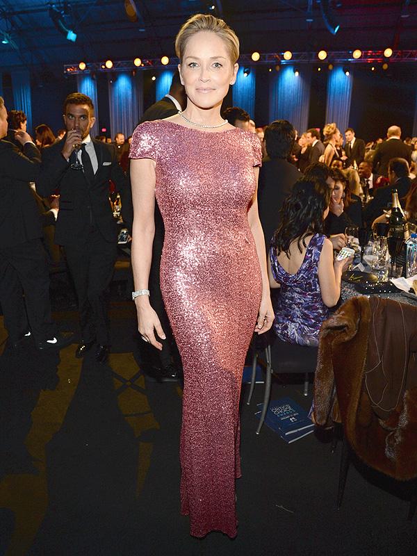 Sharon Stone sequins