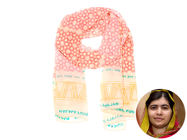Malala Fund x TOMS scarf