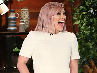 Hilary Duff Says Her Son Was 'Mad' She Dyed Her Hair Lilac