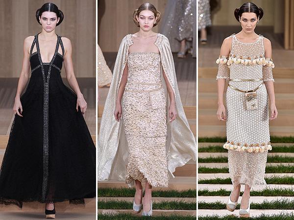 Chanel Haute Couture Kendall Jenner Gigi Hadid Bella Hadid