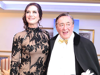 Brooke Shields Channels Royalty in Floral Gown at Vienna Opera Ball