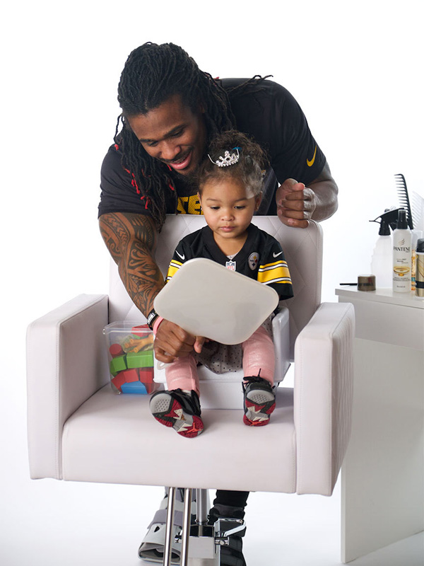 Pantene Dad-Do NFL players